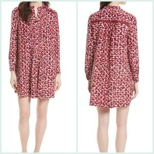 Kate Spade New York Print Brushed Silk Dress Small
